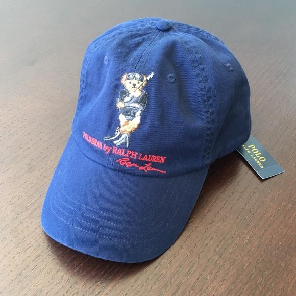a6a15bba861 Polo Ralph Lauren Polo Bear Cap Leather Backstrap